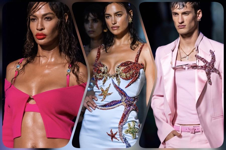 Versaceคอลเลคชั่นประจำฤดูใบไม้ผลิและฤดูร้อน 2021